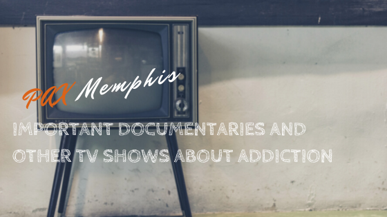 old tv showing documentaries about addiction